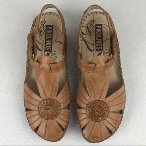 Pikolinos Size 38 (7.5-8 US) Leather Sandal